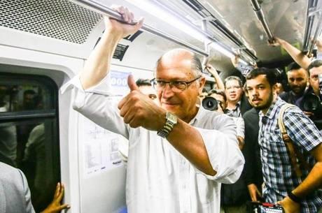 Resultado de imagem para alckmin e o metro