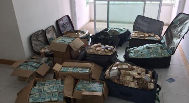 PF achou fortuna em setembro em apartamento usado pela família Vieira Lima