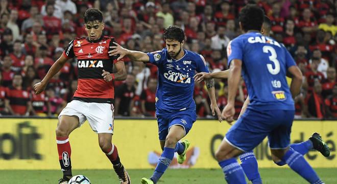 Lucas Paquetá marcou o gol rubro-negro no jogo de ida da decisão