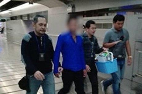 Brasileiro de 27 anos foi preso ainda no aeroporto
