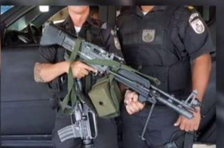 Peritos da Desarme concluíram que trata-se de uma arma de brinquedo