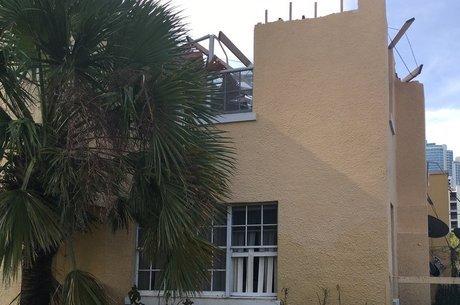 Ventos arrancaram telhado da casa de Durhart