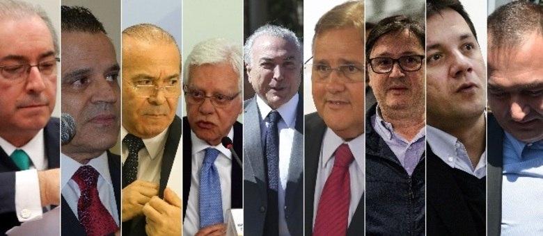 Políticos e empresários: imagem mostra todos os denunciados por Rodrigo Janot nesta quinta