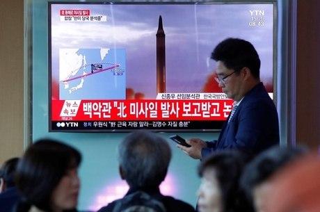 Imagem de arquivo de lançamento de míssil na Coreia