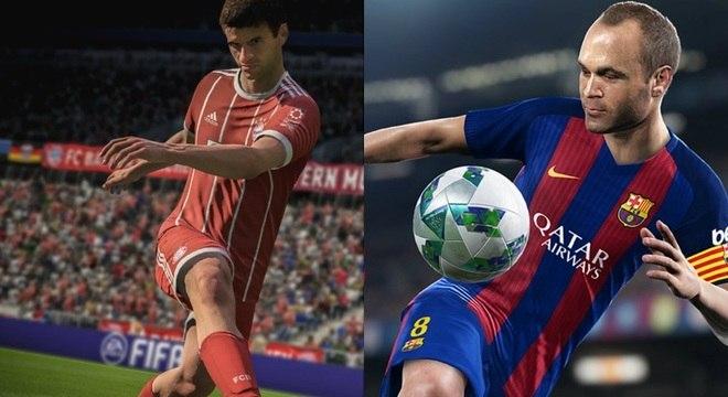 Fifa 18 e PES 2018 prometem travar mais uma batalha no mundo dos games