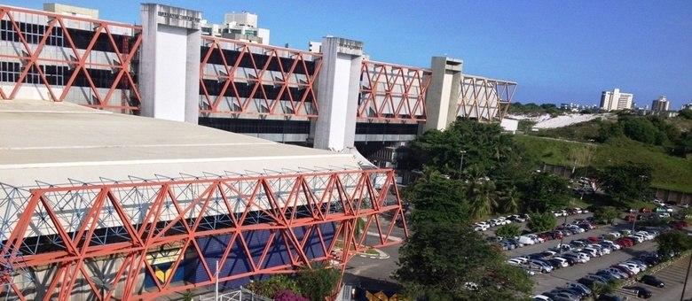 O Centro de Conveções da Bahia está com todas as suas atividades suspensas desde setembro de 2016, quando parte de sua estrutura desabou.