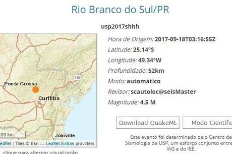 Tremor foi leve e aconteceu a 52 km de profundidade