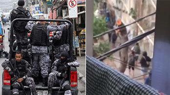 Bope faz nova operação e vídeo mostra bandidos correndo em fuga (Montagem/R7)