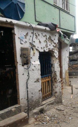 Imóvel alvejado na Rocinha