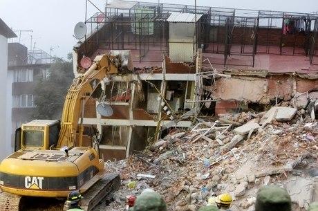 Dezenas de prédios foram completamente destruídos na Cidade do México