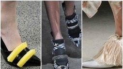 Christopher Kane faz sapatos com esponja e esfregão  ()