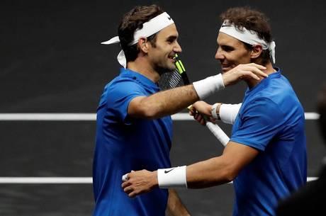 Federer e Nadal atuaram pela primeira vez juntos