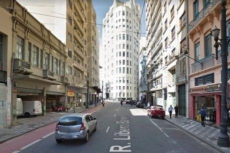 Rua Líbero Badaró será uma das bloqueadas