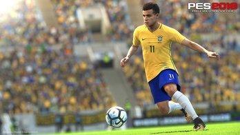 PES 2018 recria golaço de Coutinho pelo Brasil contra Argentina (Divulgação/Konami)