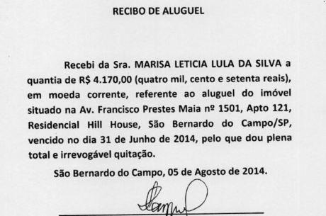 Recibo é usado como prova pela defesa de Lula