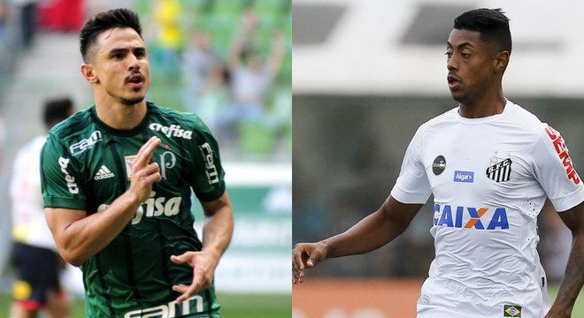 Willian e Bruno Henrique se enfrentam neste sábado (30), no Allianz Parque