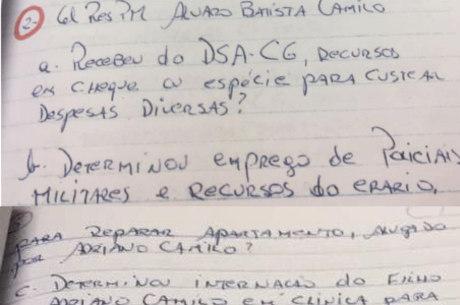 Coronel Camilo é questionado sobre o uso de verba pública para reforma do apartamento do filho