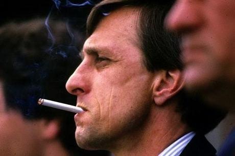 Cruyff era conhecido por não se importar em fumar