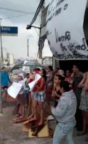 Familiares protestaram na região