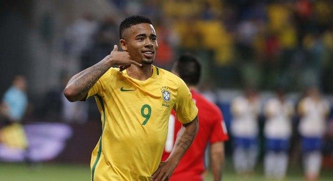 Gabriel Jesus fez sete gols com camisa da seleção brasileira nas Eliminatórias da Copa