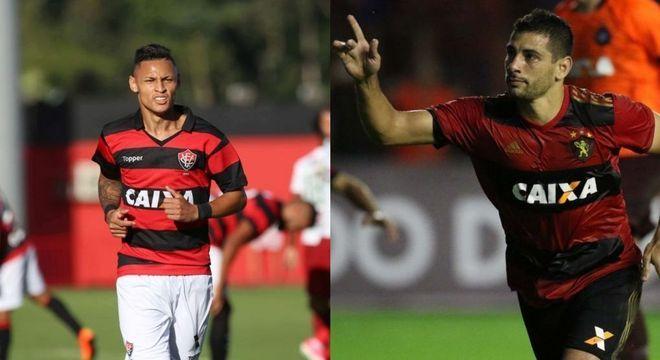 Destaques ofensivos de Vitória e Sport: Neilton e Diego Souza