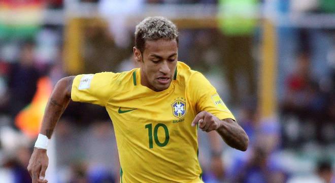 Neymar é o craque da seleção brasileira de futebol