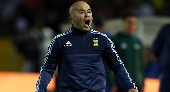 Jorge Sampaoli foi treinador da Argentina na Copa da Rússia