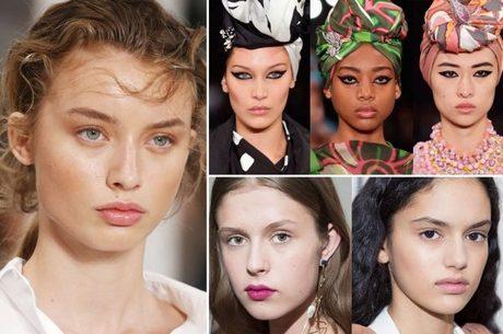 A beleza do Verão 2018/2019 – Tendências em cabelo e maquiagem que bombaram na temporada internacional