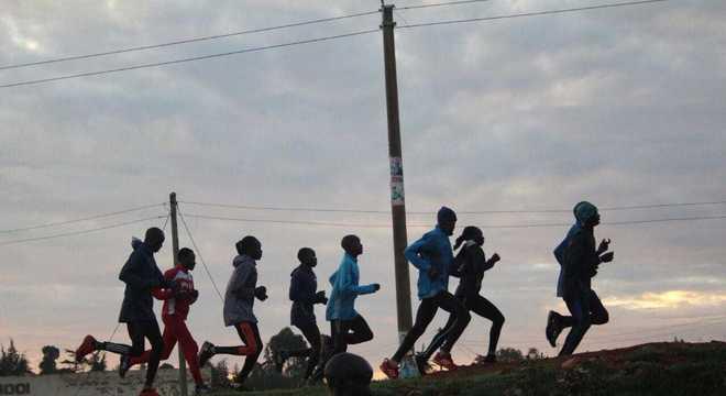 Os quenianos não param de correr
