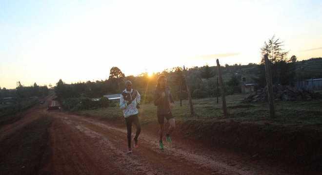 Ademir correndo logo pela manhã