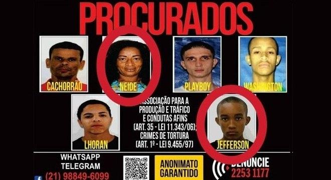 Neide e Jefferson foram presos na noite desta terça (17), na Rocinha