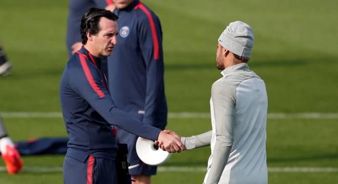 Clima entre Unai Emery e Neymar desandou no último treinamento