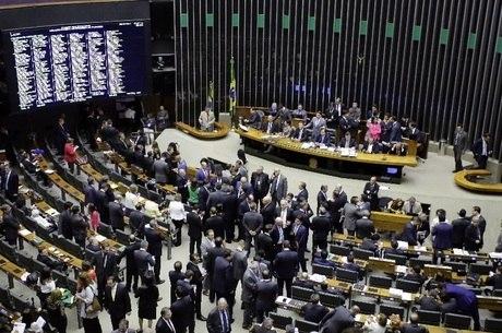 Plenário da Câmara estava lotado para a votação