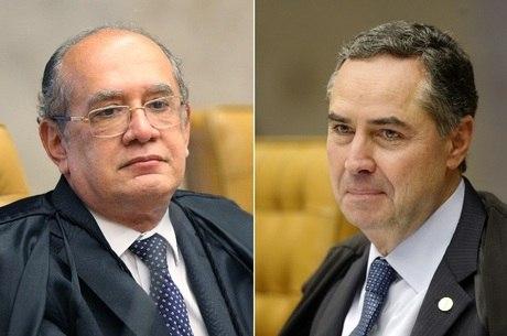 Os ministros do STF Gilmar Mendes (à esq) e Luís Roberto Barroso