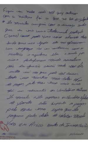 Segunda página da carta