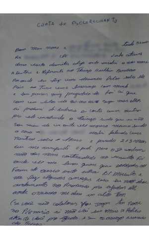 Primeira página da carta