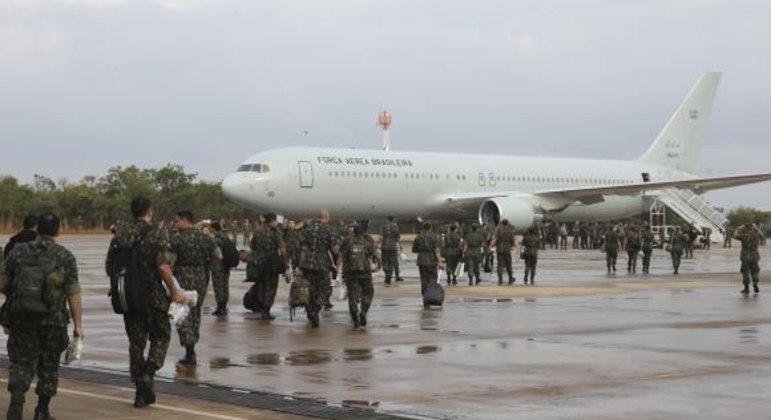 Militares em ação na região amazônica