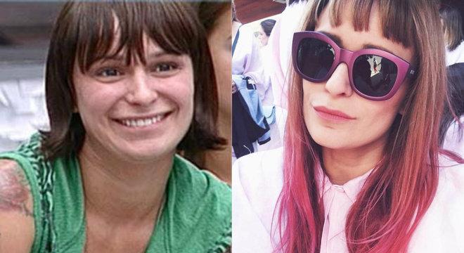 Bianca Jahara durante o Big Brother Brasil e atualmente, com 38 anos
