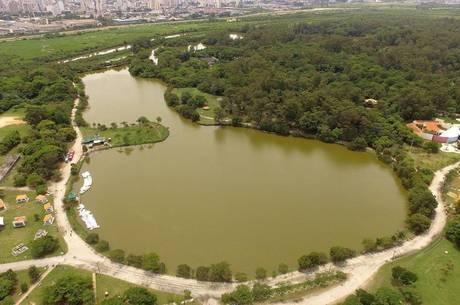 Vista aérea do Parque Ecológico do Tietê