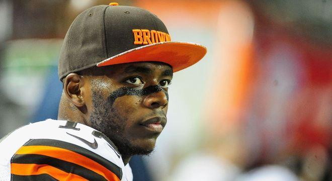 Josh Gordon, em 2014, última vez que foi visto em campo com o Cleveland Browns