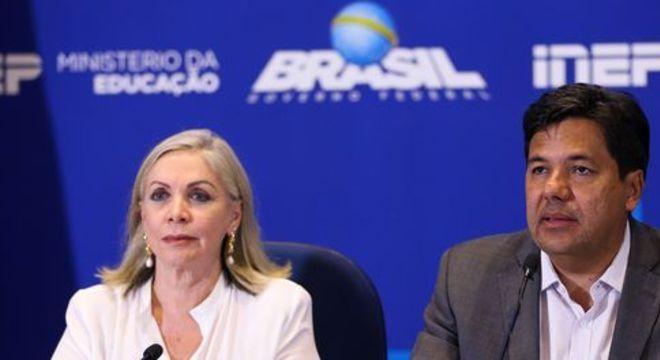 Maria Inês Fini e Mendonça Filho: em 2017, a abstenção média nos dois dias de Enem foi de 30,9%