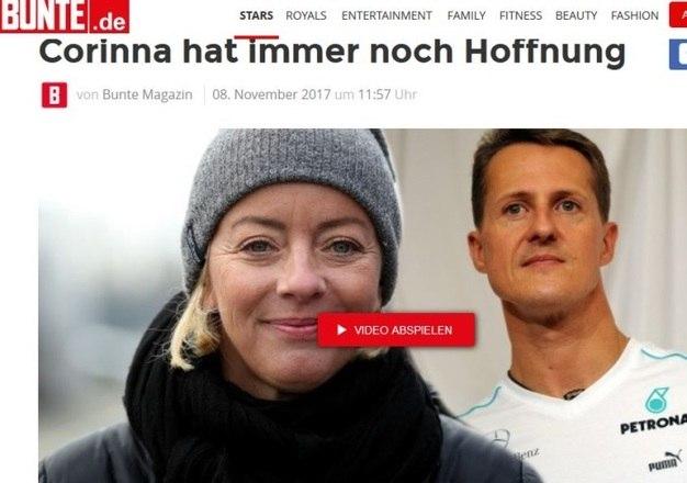 Internado em uma unidade hospitalar em sua própria casa desde setembro de 2014, o heptacampeão Michael Schumacher parece estar vencendo a dura batalha pela vida. Segundo informações do jornal alemão Bunte, Corina, mulher do ex-piloto de Fórmula 1, teria revelado a uma fonte que Schumi 'tem apresentado sinais estáveis de recuperação'EsportesR7 também no YouTube. Inscreva-se