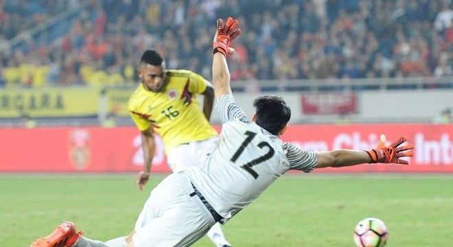 Borja marcou dois para a Colômbia nos 4 a 0 sobre a seleção chinesa