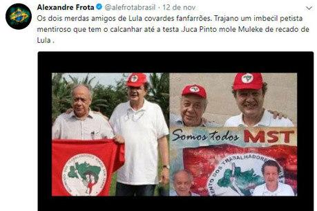 """Pinto mole"", escreveu Frota sobre jornalista"