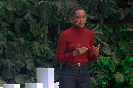 Tais Araújo em palestra onde disse que cor do filho faz as pessoas mudarem de calçada no Brasil