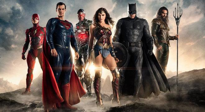 Os heróis do filme da Liga da Justiça