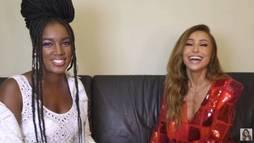 Apresentadora conversa sobre música e moda com a cantora Iza, do hit _Pesadão_ ()
