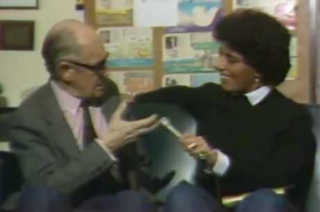 Leda e o poeta Carlos Drummond nos anos 80