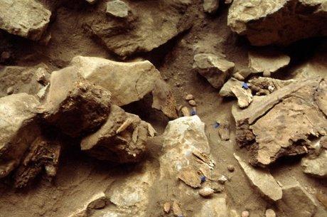 Detalhes das escavações