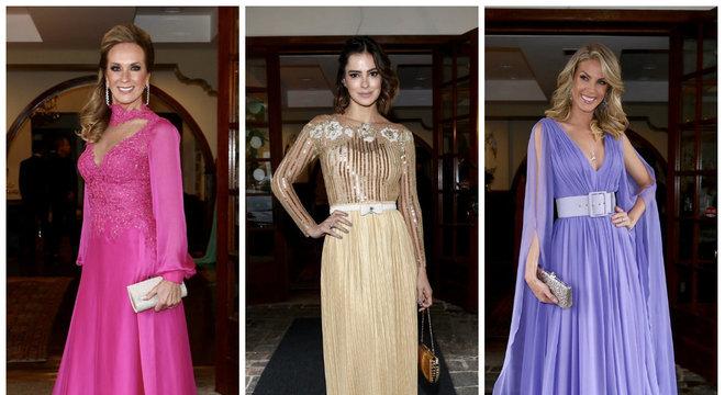 Os vestidos escolhidos por Helô Pinheiro, Vera Viel e Ana Hickmann